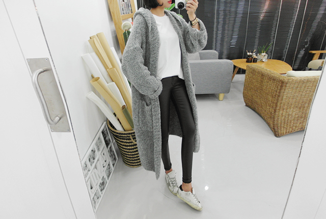 Bocassi hood bucolong cardigan (35th stock)