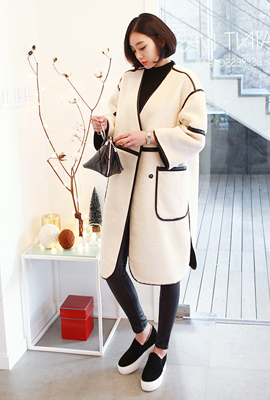 Mustang Leather double line coat