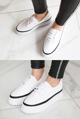 Leather sneaker line tonggup