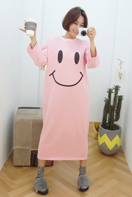 Big Smile Brushed Long Dress (4th stock)