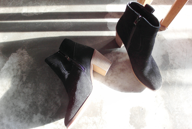 Real Leather Ankle Boots Wood tonggup