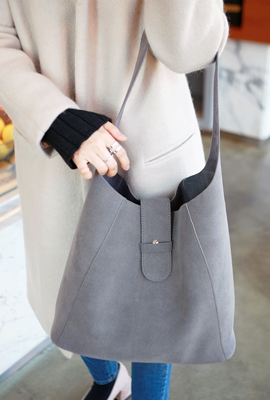 Suede Shoulder Strap