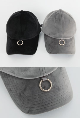 Circle Ring Velvet Ball Cap (3rd stock)