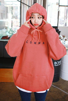 Comma, brushed hooded sweatshirt (4 tea stock)