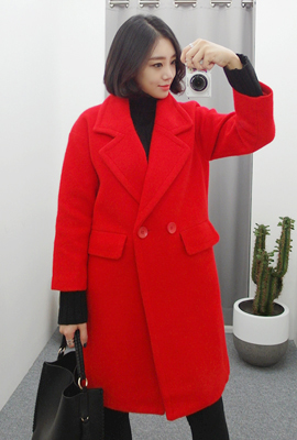 Double red coat quilted flap