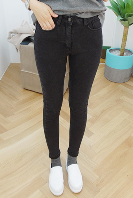 Simple brushed High Skinny Jeans