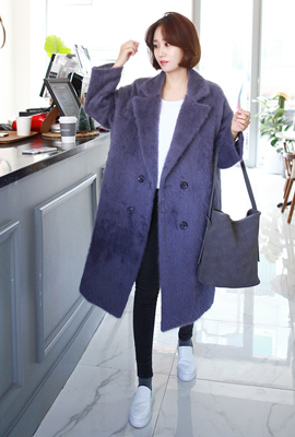 Double mohair coat quilted ulrong