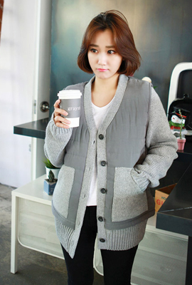 Best layered knit cardigan
