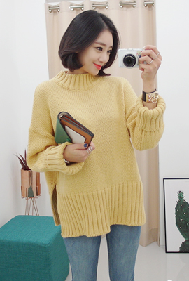 Mock-neck wide-knitted tea Corrugated cardboard (secondary stock)