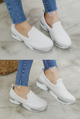 Half Leather Mix Tongue Sneakers (3rd stock)