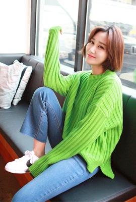 Marion teuim colorful knit tee (secondary stock)