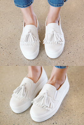 Slip-on leather tassels bent tonggup (9 th stock)