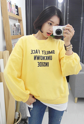 Smiley Volume One on one sleeve tee (3rd stock)