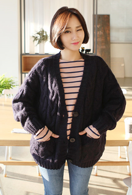 Rouge twill cardigan (7th stock)