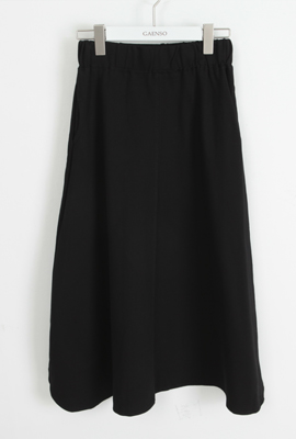 Two cut banded pocket Long Skirt