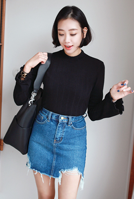 Wave bell sleeve tee (3rd stock)