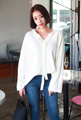 Ribbon Knit Tee teuim