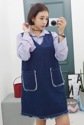 Nasir surgery denim dress