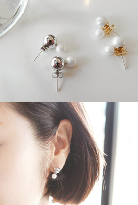 Snow Ball Mini Earring
