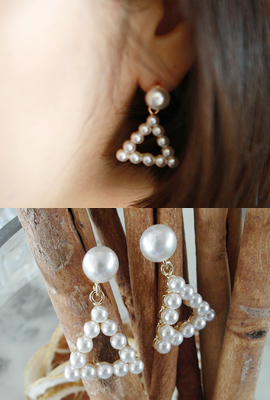 Big pearl earrings tri