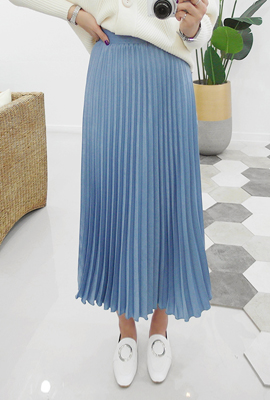 Shining Pleated skirt