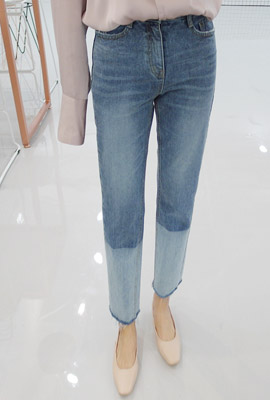 Color wash cutting exhaust Jean