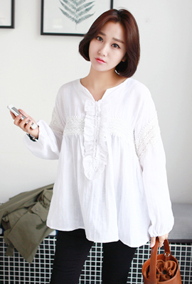 Frilly lace blouse