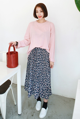 Flower pleated bending skirt (second stock)