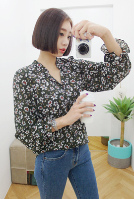 Flower banding Marion blouse (secondary stock)