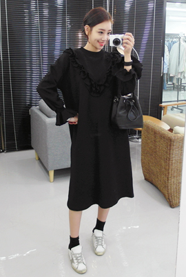 Frill ManToMan Long Dress (8th stock)