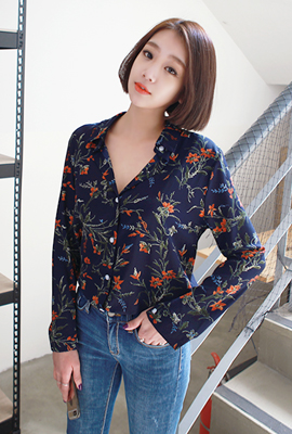 Red Flower Blouse (restocked 3rd)