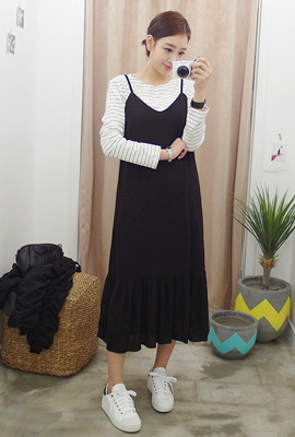 Long Dresses Ruched Tank Top (secondary stock)