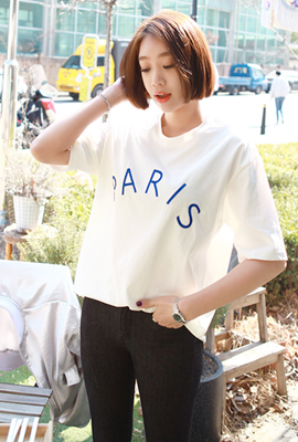 Paris Embroidered Tee