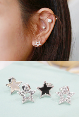 Star Frame Cubic Zirconia Earrings