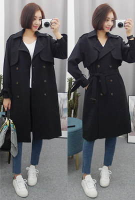 Retail Ribbon double trench coat (secondary stock)