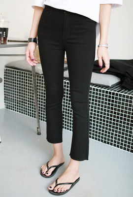 Black Span Cutting Date Pants (14th stock)
