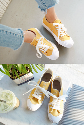 Cotton color sneakers