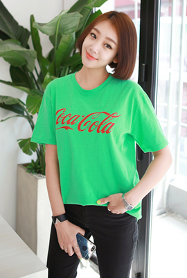 Coca lettering Short Sleeve Tee
