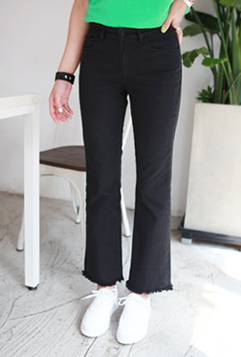 Natural surgical boot-cut pants (secondary stock)