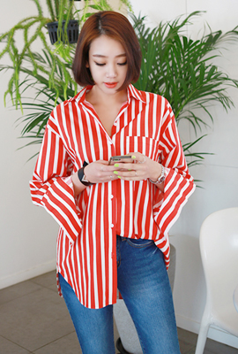 Bold wide stripes shirt