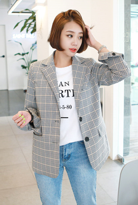 Classic Single Check Jacket