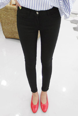 Basic Cotton Skinny Pants (3rd stock)