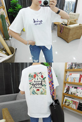 Flower Patch Short Sleeve Tee (135 tea stock)