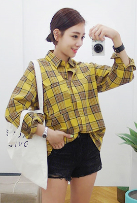 One pocket tartan check southern (second stock)