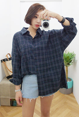 Vintage Tate Tartan Check Navy (38th stock)