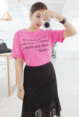 Love lettering short sleeved tee (3rd stock)