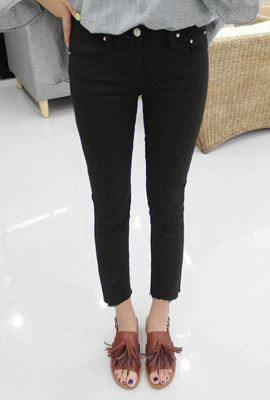 Round cut slim date pants (6th stock)