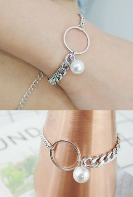 Pearl Circle Chain Bracelet (2nd stock)