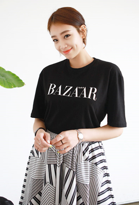Bazaar printing short sleeve tee (second stock)