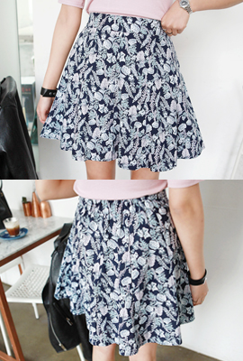 Flower bending mini skirt